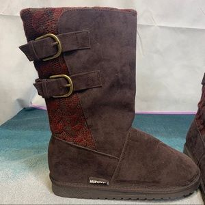 Muk Luks Jean Mid Calf Boots, Size 8 New with Tags